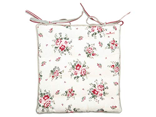 GreenGate COTSEALELO0104 Seat Cushion Elouise White Large 40 x 40 cm (1 Stück)