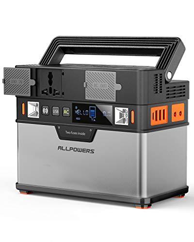 ALLPOWERS 372Wh/105000mAh Generador Inverter, Generador Portátil Solar Carga con AC...