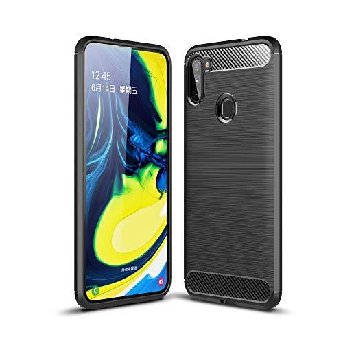 CoverKingz Funda para Samsung Galaxy M11 / A11 – Funda de silicona para teléfono móvil Galaxy M11 / A11 – Funda blanda de carbono, color negro