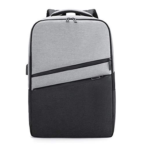 Slim Laptop Backpack USB Charging Backpack for Men Women Water Resistant College Laptop Backpack - grey - 11.81x5.11x16.92