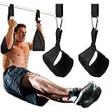DOBEN Sangles de bras suspendues pour appareils abdominaux avec fermetures rapides en D et sangles de fitness indéchirables pour barre de traction, repose-jambes suspendues.