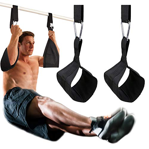 DOBEN Hängende Ab Straps Armschlaufen für Bauchtrainingsgeräte mit D-Ring-Schnellverschlüssen, Reißfeste Fitnessgurte Bauchgurte Paar für Klimmzugstange, Hängende Beinstütze