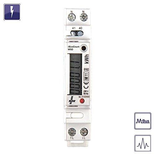 NZR Wechselstromzähler EcoCount WSD 32 1x230 V, 5(32) A Elektrizitätszähler 4048652012817