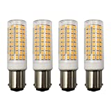 MD Lighting 10W BA15D LED Corn Light Bulbs(4 Pack)- 102 LEDs 2835 SMD 1000lm Dimmable Double Contact Bayonet Base Sewing Machine Bulb 120V Warm White 3000K LED Corn Bulb 70W Halogen Replacement Bulb