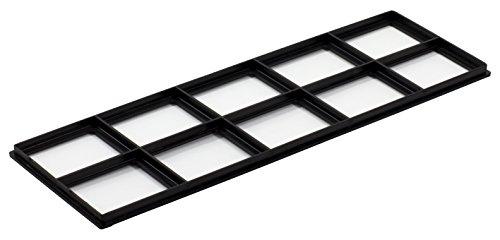 "Decor Grates FRP412 Pristene Air Filter Retainer For Decor Grates Registers, 4"" By 12"", 4 Pack , Black"