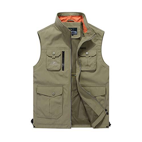 HLD Heren vest lente en de zomer dunne outdoor losse overalls meer pocket vest waterdicht vissen vest Gilets (Color : C, Size : L)