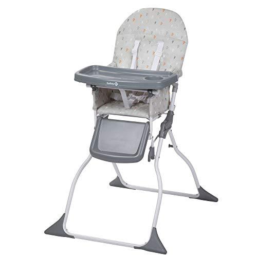 Safety 1st Keeny Trona evolutiva, Trona bebé compacta, plegable adecuada para espacios pequenos, ajustable crece con el niño, 6 meses - 3 años, color Warm Grey