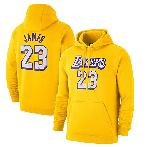 HS-XP Uomini Pallacanestro Hoodedies - NBA Los Angeles Lakers # 23 Lebron James Training Manica Lunga Felpata Casuale Outdoor,3XL(190~195
