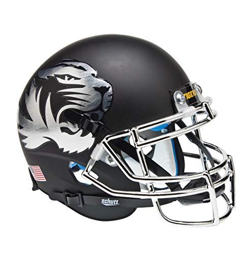 Schutt NCAA Missouri Tigers Mini Authentic XP Football Helmet, Chrome Alt. 2