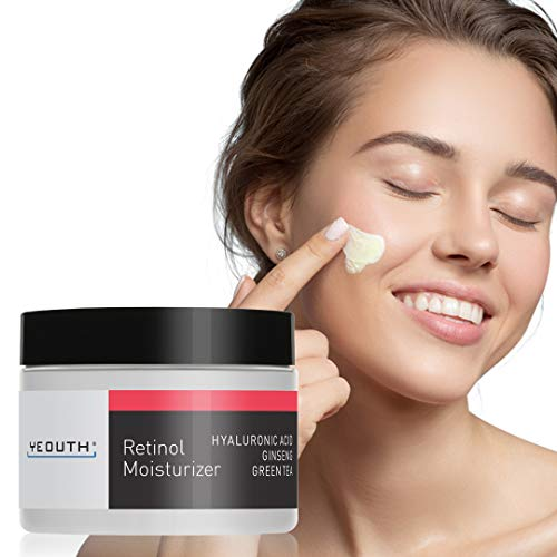 YEOUTH Retinol Cream Moisturizer 2.5% for Face with Hyaluronic Acid, Ginseng and Green Tea (2oz)