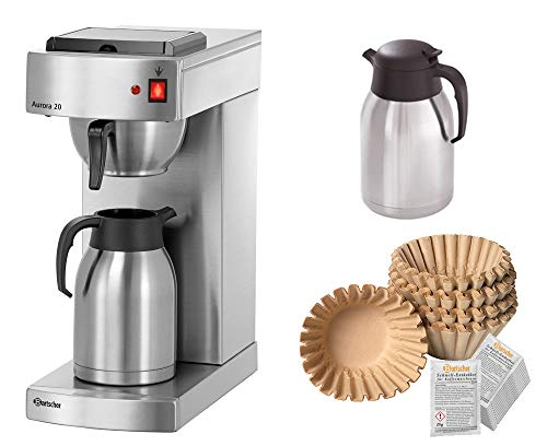 Bartscher Kaffeemaschine Aurora 20 + 1000 Filter + 2. Kanne + Entkalker