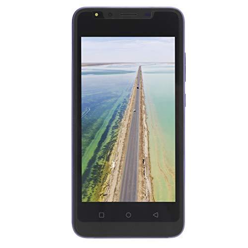 cigemay Teléfono móvil, Note30 Plus 5.0in HD Pantalla Completa con desbloqueo de Huellas Dactilares, App Face ID, Smartphone sin SIM, 512MB + 4GB, Cámara Dual, Teléfono Android 6.1(púrpura)