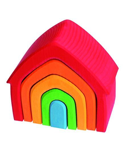 Juguete Apilable Casa De Colores Mediana