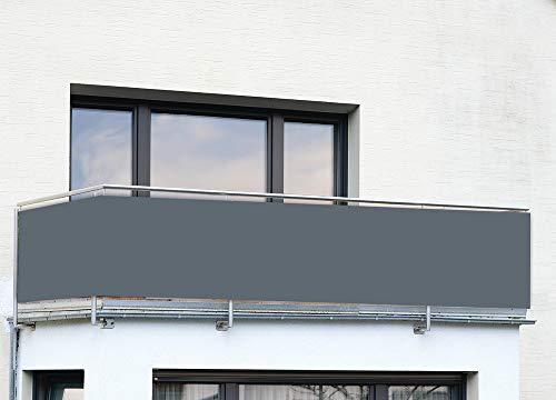 Brise-vue de balcon anthracite Uni