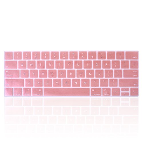 """BCP Keyboard Protector Cover Silicone Skin for Latest (Model A1706/A1707/A1708)) New Version MacBook Pro 13"""" 15"""" Retina Display (2016 Version, with Touch Bar) (Rose Gold)"""