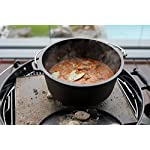 BBQ-Toro Premium Cast Iron Dutch Oven with Lid Lifter I preseasoned I Casserole Pot (DO6P - 7.3 litres, pot with feet)