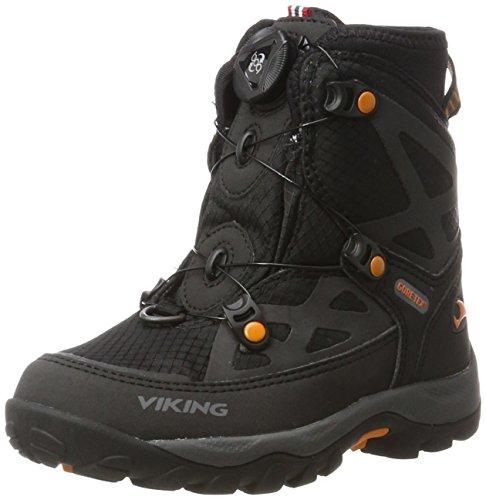 Viking viking Unisex-Kinder Kjetil Boa Outdoor Fitnessschuhe, Schwarz (Black/Orange), 38 EU
