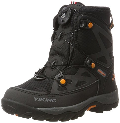 Viking viking Unisex-Kinder Kjetil Boa Outdoor Fitnessschuhe, Schwarz (Black/Orange), 38 EU