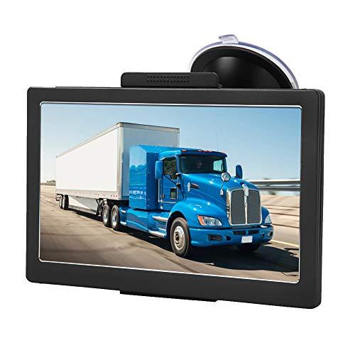 Navegador GPS para camión, dispositivo de navegación Bluetooth con ROM de 8 GB, mapa gratuito en 30 idiomas (pantalla táctil de 7 pulgadas) para automóvil, camión, peatón, bicicleta, ambulancia, autob