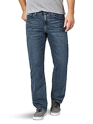 Wrangler Authentics Men's Big & Tall Relaxed Fit Comfort Flex Jean, Smoke, 54W X 30L