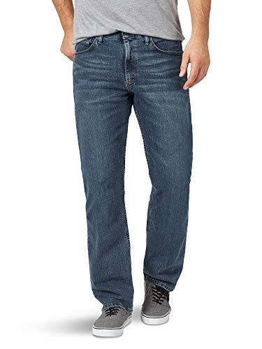 Wrangler Authentics Men's Big & Tall Relaxed Fit Comfort Flex Jean, Smoke, 44W X 32L