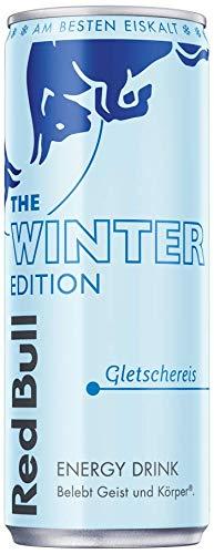 Red Bull Energy Drink Gletschereis OHNE Pfand Dosen Getränke, Winter Edition, 24er Pack (24 x 250 ml)