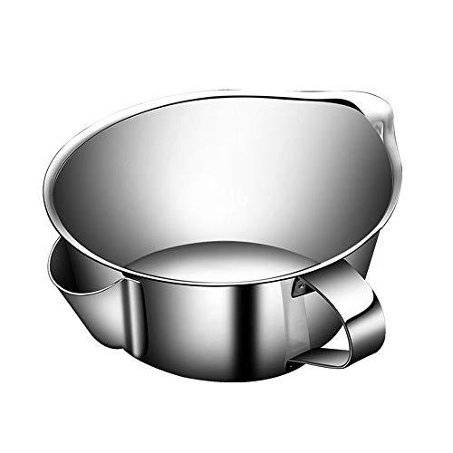QWER2P 304 Edelstahl Suppe Ölabscheider Schüssel, Extra Große Stilvolle Tägliche Suppentopf Ölfilter Ölpumpe, Öl Isolation Schüssel Für Küche Kochen