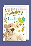 Geburt Karte Großeltern Enkelkind Grußkarte Teddy 16x11cm Plus 3 Sticker