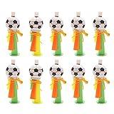 Amosfun Krachmacher Kunststoff Fußball Design Kinder Trompete Horn Pfeifen Partytröten Fußball Fans Artikel Party Gastgeschenk 10 Stück (Zufällige Farbe)