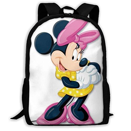 shenguang Hermosa Mochila de Viaje para Adultos de Minnie se Adapta a Mochilas para portátiles de 15,6 Pulgadas, Mochila Escolar, Mochila Informal para Hombres y Mujeres