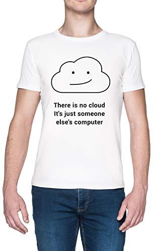 There Is No Cloud Blanca Hombre Camiseta Tamaño XL White Men's tee Size XL