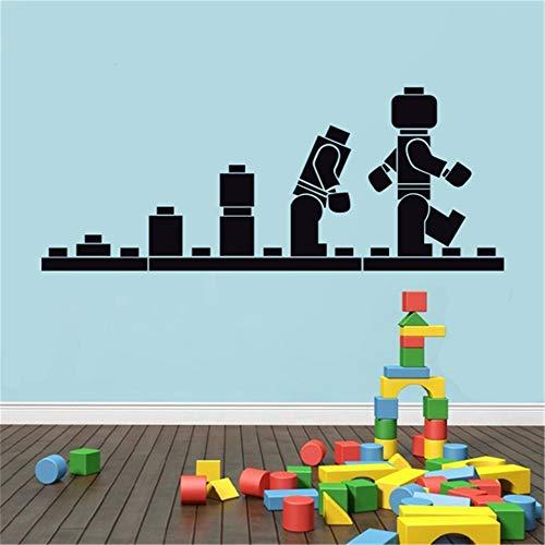 wandaufkleber Lego Evolution Decal Lego Wandschablone Kinderzimmer Dekorativer Cartoon