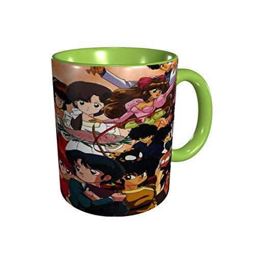 IUBBKI Ranma 1/2 Tazas Comics Anime Tazas de café Novedad Regalo Taza de café de cerámica Tazas de café de viaje para el hogar