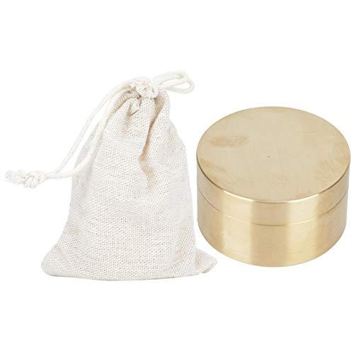 SALUTUYA Caja de contenedor sellada para joyería de Metal portátil, Liviana, Resistente a la Humedad, sin enchapado, contenedor Sellado de Monedas a Prueba de Agua para almacenar(Large)