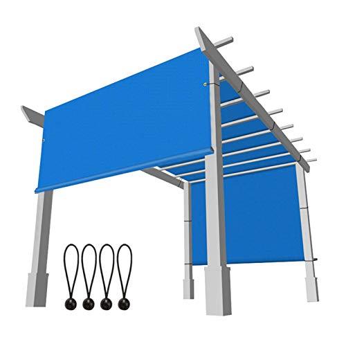 Liveinu Cubierta de Dosel Toldo Vela Parasol para Cenadores Toldo Vela de Sombra Rectangular HDPE Transpirable protección UV para Patio, Exteriores, Jardín 275x365cm Azul