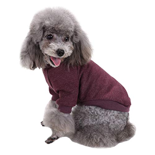 Fashion Focus On Pet Dog Clothes Knitwear Dog Sweater Soft Thickening Warm Pup Dogs Shirt Winter Puppy Sweater for Dogs (Brown, XXS)