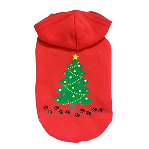 POPETPOP Perro de Navidad con Capucha Perro con Capucha Chaleco de algodón árbol suéter para Mascotas Ropa de...