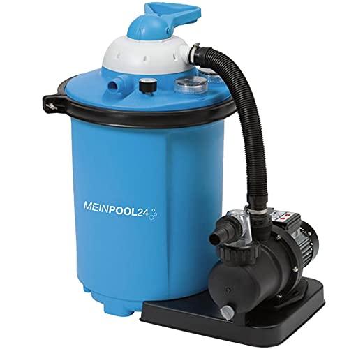 MEINPOOL24.DE Filteranlage Speed Clean Comfort 75 Poolfilter Sandfilter für Pools bis 40.000 Liter, Umwälzleistung 8 m³/h, 230 V/550 W, 7-Wege-Ventil, Anschluss Ø 32/38 mm, Zeitschaltuhr