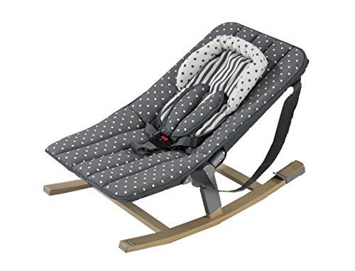 Geuther - Rocco Baby-Wippe 4705 für Hochstuhl Tamino, mit Kufen und Tragebändern, Sicherheitsgurt, leichtes Aufstecken mit separat erhältlichen Adaptern 4705AD, Punkte