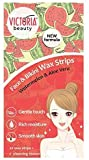 Victoria Beauty Watermelon and Aloe Vera Face and Bikini Zone Hair Removal Wax Strips, Suitable for...