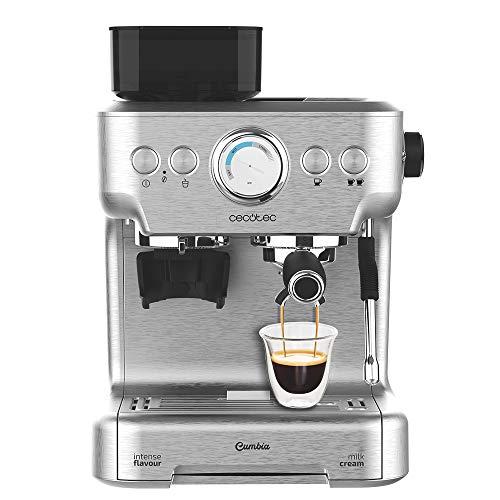 Cecotec Cumbia Power Espresso 20 Barista Aromax ekspres do kawy o mocy 2900 W, 2 systemy grzewcze, pompa ciśnieniowa 20 barów, manometr, podwójny uchwyt na filtr i 2 filtry