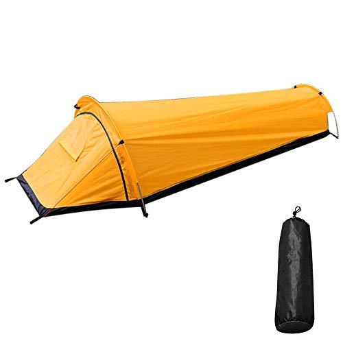 Smitex Tienda de campaña ultraligera al aire libre, 1persona/2 persona/mochila tienda de campaña ligera de malla refugio perfecto para acampar, mochileros y caminatas pasantes (amarillo)