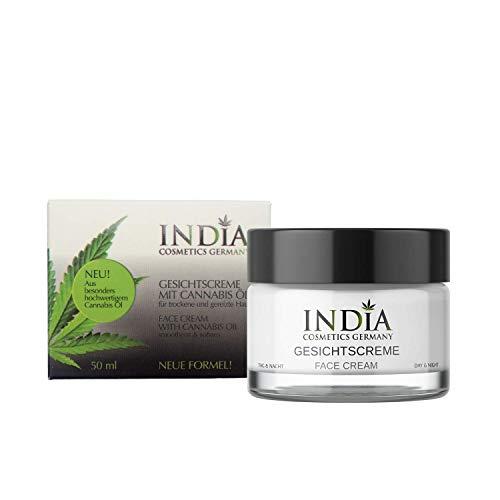 Gesichtscreme mit Cannabis Öl Tag und Nacht feuchtigkeitsspendend bei trockener Haut reifer Haut bei Neurodermitis Hanfcreme für schöne Haut