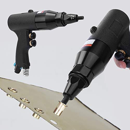 Weikeya Fusil de nueces neumáticas de rendimiento estable: pistola remachadora de aire automática, 1,4 pulgadas BSPP, hilo macho M6 ~ M8, 750 RPM, tapa neumática para rifle