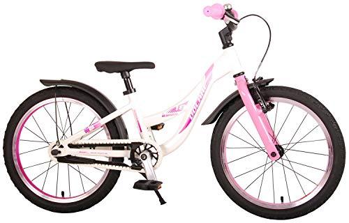 Kinderfahrrad Mädchen18 Zoll Glamour Vorradbremse am Lenker und Rücktrittbremse Pearl Rosa 85% Zusammengebaut