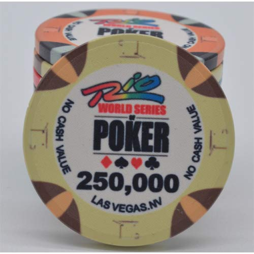 PokerShop Fiches Ceramica WSOP Rio Replica Valore 250000