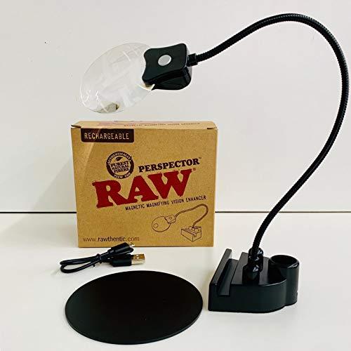 Raw Perspector mit UV & Led Licht, 3-fach und 5-fach-Lupe, Magnetfuß für einen festen Stand