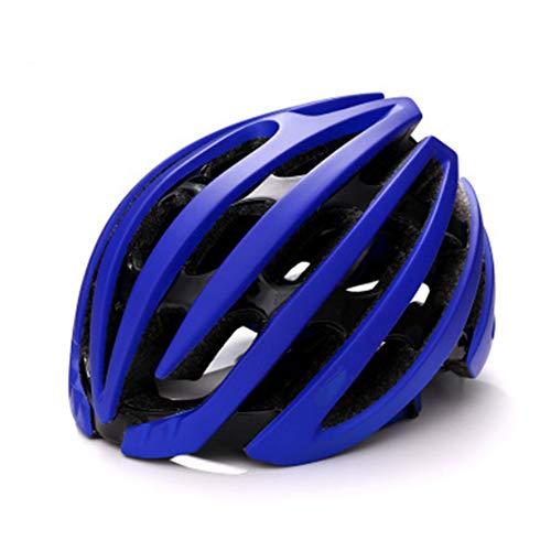 Casco Bicicleta ZWRY Conjunto de Casco de Ciclismo Equipamiento Deportivo para Exterior Casco de Bicicleta Ultraligero XL Azul Negro 20