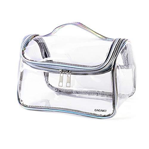 GAGAKU Makeup Tasche Transparent Damen Kosmetiktasche Durchsichtig für Reise Kulturtasche