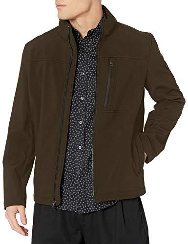 Calvin Klein - Chamarra para Hombre (Tejido Softshell, Parte Inferior Abierta), Deep Camouflage, XX-Large